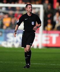 ROSS JOYCE REFEREE, Cambridge United v Portsmouth, Abbey Stadium Sky Bet Football League Two, Saturday 29th October 2016<br /> Score 0-1 (Chaplin)