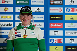 Nika Razinger of nordic team during Media day of Ski Association of Slovenia before new winter season 2014/15 on October 20, 2014 in Hisa Kulinarike Jezersek, Sora, Slovenia. (Photo by Matic Klansek Velej / Sportida)