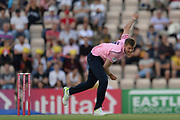 Tom Helm of Middlesex bowling during the Vitality T20 Blast South Group match between Hampshire County Cricket Club and Middlesex County Cricket Club at the Ageas Bowl, Southampton, United Kingdom on 20 July 2018. Picture by Dave Vokes.