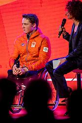 02-01-2018 NED: PloegpresentatieTeamNL, Arnhem<br /> Jeroen Kampschreur tijdens de teamoverdracht van Olympic en Paralympic TeamNL voor de Olympische Spelen van Pyeongchang