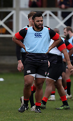 England's Billy Vunipola during a training session at Brighton College. PRESS ASSOCIATION Photo. Picture date: Tuesday January 2, 2018. See PA story RUGBYU England. Photo credit should read: Gareth Fuller/PA Wire. RESTRICTIONS: Editorial use only, No commercial use without prior permission.