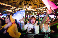 Fans of Japanese rock band L' Arc-en-Ciel at Madison Square Garden.