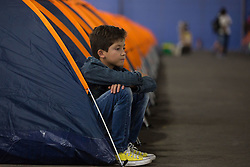 January 30, 2018 - Sao Paulo, Sao Paulo, Brazil - A young man waits for the beginning of the Campus Party 2018, at Anhembi Park, in Sao Paulo, Brazil. Campus Party is the largest IT and technology event in Brazil and happens until February 4, and should receive the visit of about 120 thousand people. (Credit Image: © Paulo Lopes via ZUMA Wire)
