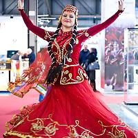 Milan, Italy - February  17: Azerbaijan dancers at BIT International Tourism Exchange on february 17, 2012 in Milan, Italy.