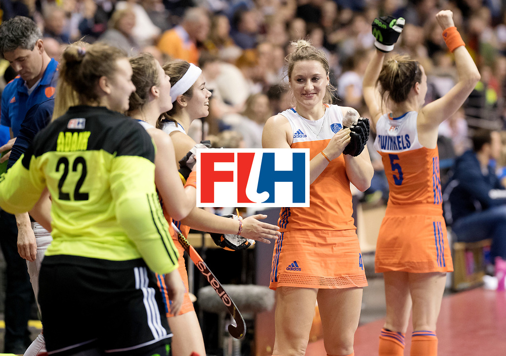 BERLIN - Indoor Hockey World Cup<br /> Quarterfinal 4: Netherlands - Czech Republic<br /> foto: Lieke van Wijk.<br /> WORLDSPORTPICS COPYRIGHT FRANK UIJLENBROEK