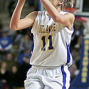 Delaware Forward (#11) Elena Delle Donne attempts a jump shot in first half, Delle Donne lead all scores with 31 points as Delaware defeated Towson 75-57 Wednesday at The Bob Carpenter Center In Newark Delaware...Special to The News Journal/SAQUAN STIMPSON