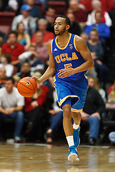 Dec 29, 2011; Stanford CA, USA;  UCLA Bruins guard Jerime Anderson (5) dribbles up court against the Stanford Cardinal during the second half at Maples Pavilion.  Stanford defeated UCLA 60-59. Mandatory Credit: Jason O. Watson-US PRESSWIRE