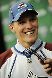 Gabriel Landeskog of the Kitchener Rangers was selected second overall by the Colorado Avalanche  in the 2011 NHL Entry Draft in St. Paul, MN on Friday June 24. Photo by Aaron Bell/CHL Images