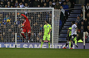 Bradley Johnson levels the score during the Sky Bet Championship match between Derby County and Brighton and Hove Albion at the iPro Stadium, Derby, England on 12 December 2015.