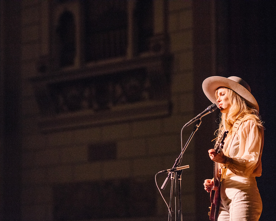 NEW YORK, NY - FEBRUARY 06: American musician Kristin Diable performs at The Town Hall on February 06, 2016 in New York, New York. (PHOTO CREDIT: EricMTownsend.com)