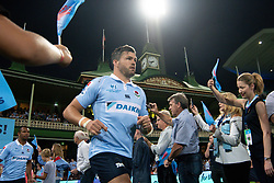March 9, 2019 - Sydney, NSW, U.S. - SYDNEY, NSW - MARCH 09: Waratahs player Adam Ashley-Cooper (13) runs on to the field at round 4 of Super Rugby between NSW Waratahs and Queensland Reds on March 09, 2019 at The Sydney Cricket Ground, NSW. (Photo by Speed Media/Icon Sportswire) (Credit Image: © Speed Media/Icon SMI via ZUMA Press)