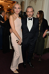 BRUNO AVEILLAN and his wife INNA ZOBOVA at The Backstage Gala hosted by Diana Vishneva , Principal Dancer of the Mariinsky and American Ballet Theatre, and Natalia Vodianova in aid of The Naked Heart Foundation held at The London Coliseum, St.Martin's Lane, London on 17th April 2015.