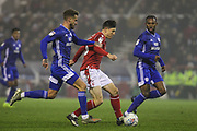 Joe Lolley of Nottingham Forest during the EFL Sky Bet Championship match between Nottingham Forest and Cardiff City at the City Ground, Nottingham, England on 30 November 2019.