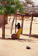 Housework in Podor Senegal