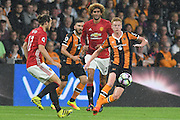 Hull City midfielder Sam Clucas (11) during the Premier League match between Hull City and Manchester United at the KCOM Stadium, Kingston upon Hull, England on 27 August 2016. Photo by Ian Lyall.