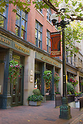 Shops and galleries in Pioneer Square, Seattle, Washington