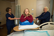 Good Samaritan Hospital Labor & Delivery marketing campaign photographed at Good Samaritan Hospital in San Jose, California, on February 9, 2017. (Stan Olszewski/SOSKIphoto)(Stan Olszewski/SOSKIphoto)