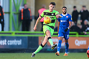 Forest Green Rovers Paul Digby(20) passes the ball forward during the EFL Sky Bet League 2 match between Forest Green Rovers and Morecambe at the New Lawn, Forest Green, United Kingdom on 17 November 2018.