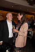 RICHARD GIRLING; EVELINA GIRLING, Dinner in aid of the China Tiger Revival hosted by Sir David Tang and Stephen Fry  at China Tang, Park Lane, London. 1 October 2013. ,