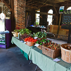 The Community Supported Agriculture (CSA) pick-up at the Crimson and Clover Farm in Northampton, Massachusetts.