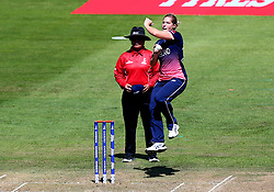 Katherine Brunt of England Women bowls - Mandatory by-line: Robbie Stephenson/JMP - 05/07/2017 - CRICKET - County Ground - Bristol, United Kingdom - England Women v South Africa Women - ICC Women's World Cup Group Stage
