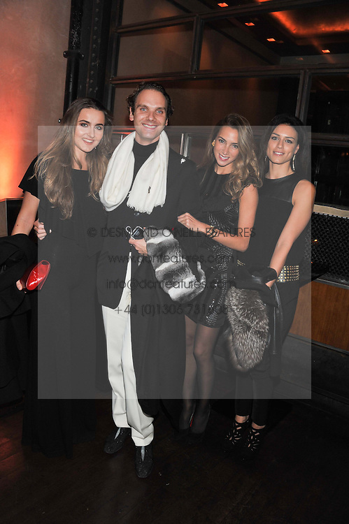 Left to right, VIOLETTA GRUOSI, MICHELE CODONI, JIDA KANAFANI and DYALA ALI at a dinner hosted by de Grisogono at 17 Berkeley Street, London on 12th November 2012.