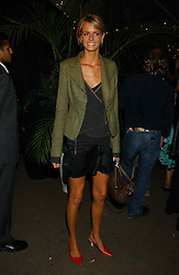Model JACQUETTA WHEELER at an exclusive evening featuring the greatest talents in fashion today in aid of the African children who have been affected bt the AIDS epidemic held at the Chelsea Gardener, Sydney Street, London on 20th September 2004<br />