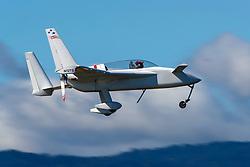 Rutan Long-EZ (N12TS) on approach to Palo Alto Airport (KPAO), Palo Alto, California, United States of America