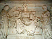 Frieze decorating the crypt in the Basilica at Les Invallides, Paris surrounding the sarcophagus in the Tomb of Napoleon I. The frieze depicts idealised episodes from the life of the Emperor.