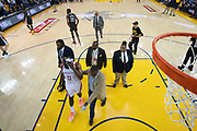 April 30, 2019; Oakland, CA, USA; Houston Rockets guard James Harden (13) walks off the court after an injury against the Golden State Warriors during the first half in game two of the second round of the 2019 NBA Playoffs at Oracle Arena. The Warriors defeated the Rockets 115-109.