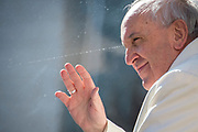 April 19, 2017: Pope Francis greets the faithful as he arrives to celebrate his Weekly General Audience in St. Peter's Square in Vatican City. Antoine Mekary | Aleteia | I.Media