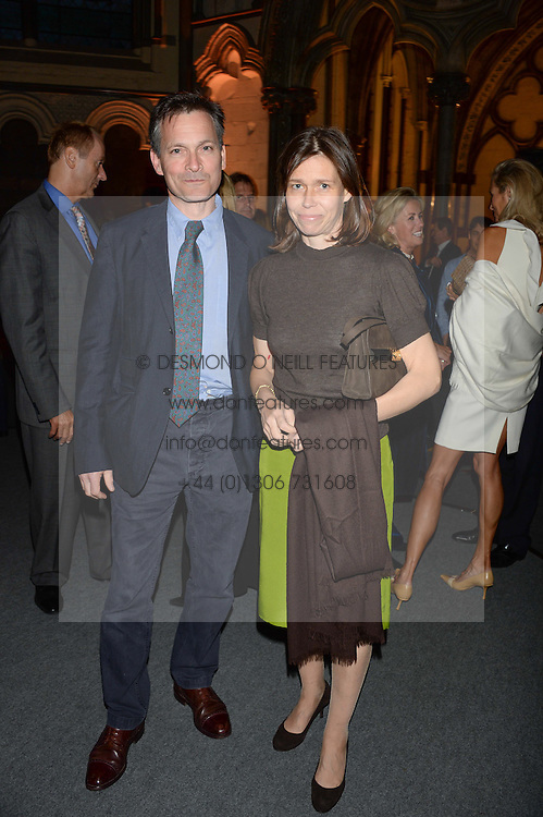 "MR DANIEL & LADY SARAH CHATTO at a private view to view ""The Coronation Theatre: Portrait of Her Majesty Queen Elizabeth II"" painted by Ralph Heimans held at Westminster Abbey, London on 12th September 2013."