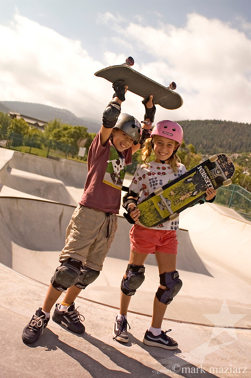 girls skateboarding