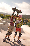 girls skateboarding