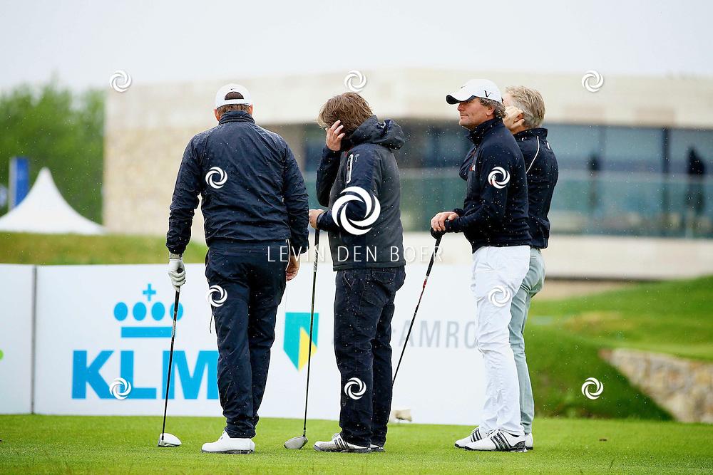 BADHOEVEDORP - De DON Masters is een celebrity golftoernooi, waarbij iedere flight bestaat uit 3 deelnemers en 1 bekende Nederlander. Het toernooi plaats op Golfclub The International. Met op de foto  Peter Paul Muller. FOTO LEVIN DEN BOER - PERSFOTO.NU