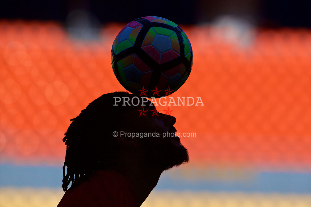 NANNING, CHINA - Tuesday, March 20, 2018: Wales' captain Ashley Williams during a training session at the Guangxi Sports Centre ahead of the opening 2018 Gree China Cup International Football Championship match against China. (Pic by David Rawcliffe/Propaganda)