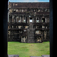 Angkor Wat combines two basic types of Khmer temple architecture, the temple-mountain and the later galleried temple.  It is designed to represent Mount Meru which is home of the devas in Hindu mythology.