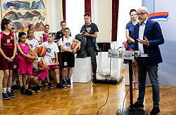 Luc Vergoossen of FIBA at Reception of Women's Eurobasket 2019 teams and FIBA officials at Darko Bulatović, Mayor of City of Nis, on June 29, 2019 in City hall, Nis, Serbia. Photo by Vid Ponikvar / Sportida