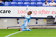 Coventry City midfielder Wesley Jobello scores a goal but it was caught offside  during the EFL Sky Bet League 1 match between Bolton Wanderers and Coventry City at the University of  Bolton Stadium, Bolton, England on 10 August 2019.
