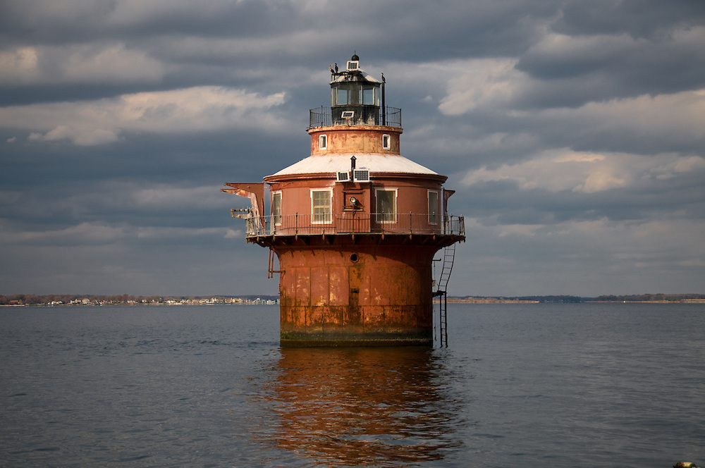 Lighthouse in the Chesapeake Bay near Baltimore, Md
