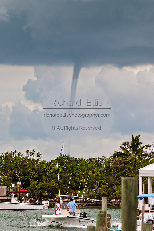 A water spout Hope Town, Elbow Cay Abacos, Bahamas.