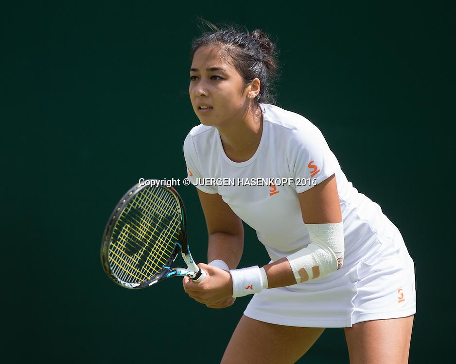Zarina Diyas (KAZ)<br /> <br /> Tennis - Wimbledon 2016 - Grand Slam ITF / ATP / WTA -  AELTC - London -  - Great Britain  - 27 June 2016.