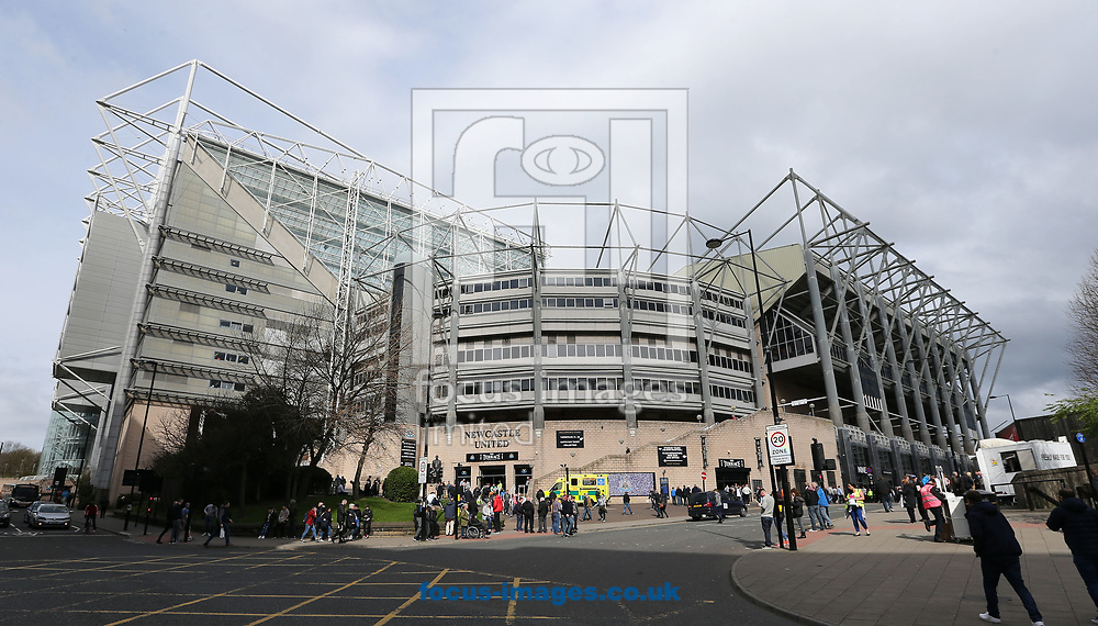 A general view of the St. James's Park prior to the Sky Bet Championship match at St. James's Park, Newcastle<br /> Picture by Simon Moore/Focus Images Ltd 07807 671782<br /> 01/04/2017