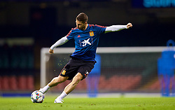 CARDIFF, WALES - Wednesday, October 10, 2018: Spain's captain Sergio Ramos during a training session at the Principality Stadium ahead of the International Friendly match between Wales and Spain. (Pic by David Rawcliffe/Propaganda)