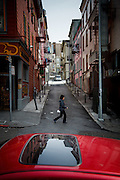 San Francisco, April 3 2012 - A street of North Beach, the historical neighborhood of the Beat generation.
