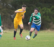 Cairdy Thistle (yellow) v Dundee City (green and white hoops) in the Dundee Saturday Morning Football League at University Grounds, Riverside, Dundee.Photo: David Young<br /> <br />  - © David Young - www.davidyoungphoto.co.uk - email: davidyoungphoto@gmail.com