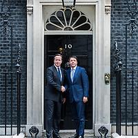 Foto Piero Cruciatti / LaPresse<br /> 02-10-2014 Londra, Gran Bretagna<br /> Politica<br /> Il presidente del Consiglio Matteo Renzi incontra David Cameron a Downing Street<br /> Nella foto: David Cameron (S), Matteo Renzi (R)<br /> <br /> Photo Piero Cruciatti / LaPresse<br /> 02-10-2014 London, United Kingdom<br /> Politics<br /> Italian PM Matteo Renzi meets British Prime Minister David Cameron in Downing Street<br /> In the photo: David Cameron (L), Matteo Renzi (R)