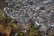 Nederland, Limburg, Maastricht, 15-11-2010;.Gezicht op deel historisch centrum  Maastricht, rechtsboven is een klein stukje Vrijthof. Voor de witte huizen rechts onder het midden is de stadswal te zien. View of the  historical center of Maastricht, with a small piece of the Vrijthof (top). In front of the white houses (r) in the middle the city wall..luchtfoto (toeslag), aerial photo (additional fee required).foto/photo Siebe Swart