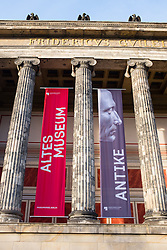 Exterior of Altes Museum in Berlin Germany
