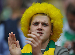 Norwich Fan, Middlesbrough v Norwich, Sky Bet Championship, Play Off Final, Wembley Stadium, Monday  25th May 2015